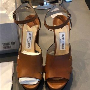 Jimmy Choo Brown High Sandal